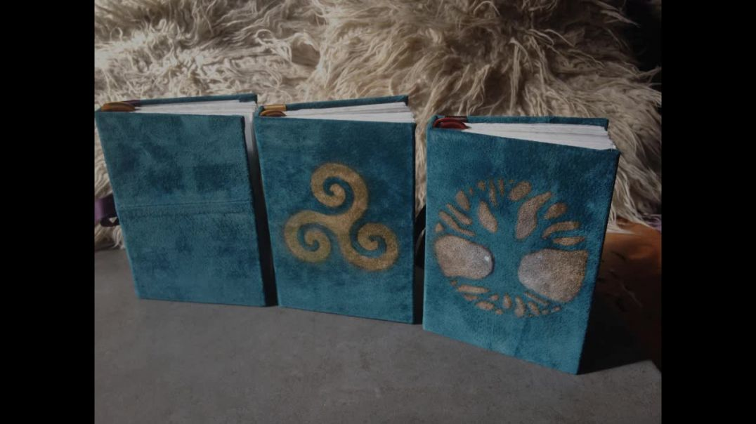 Handcrafted 'Tree of Life' Journal, Notebook or Dream Book. Made with reclaimed suede leat