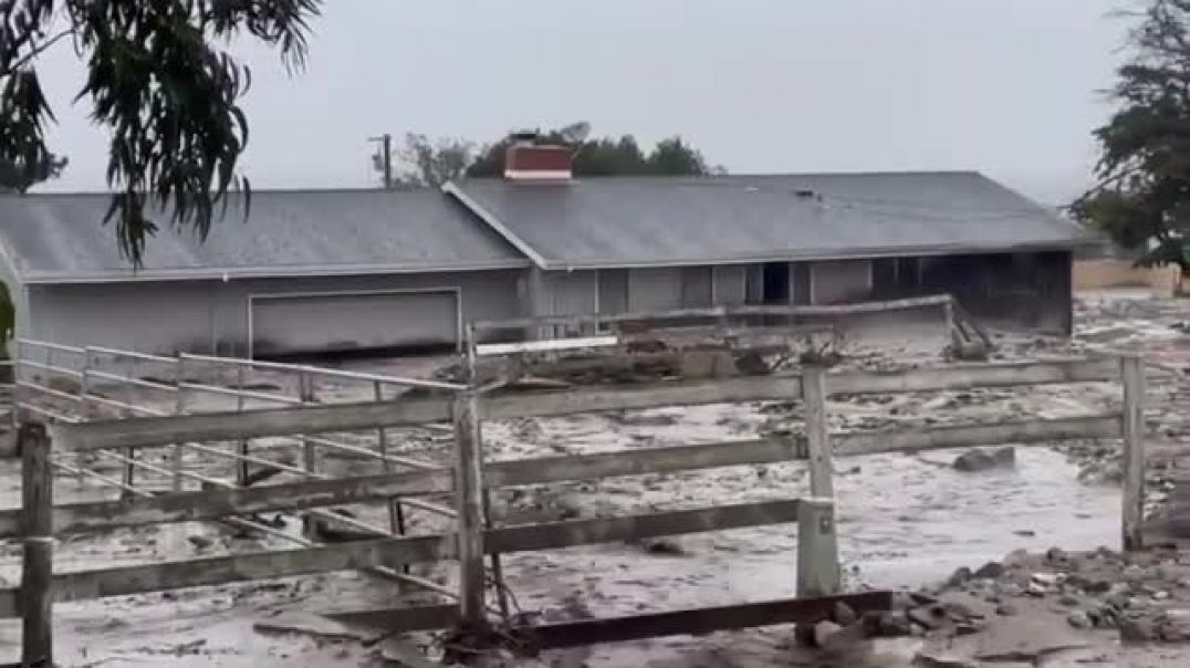 Mud floods in California after heavy rains _ Natural Disaste, Flooding, Climate