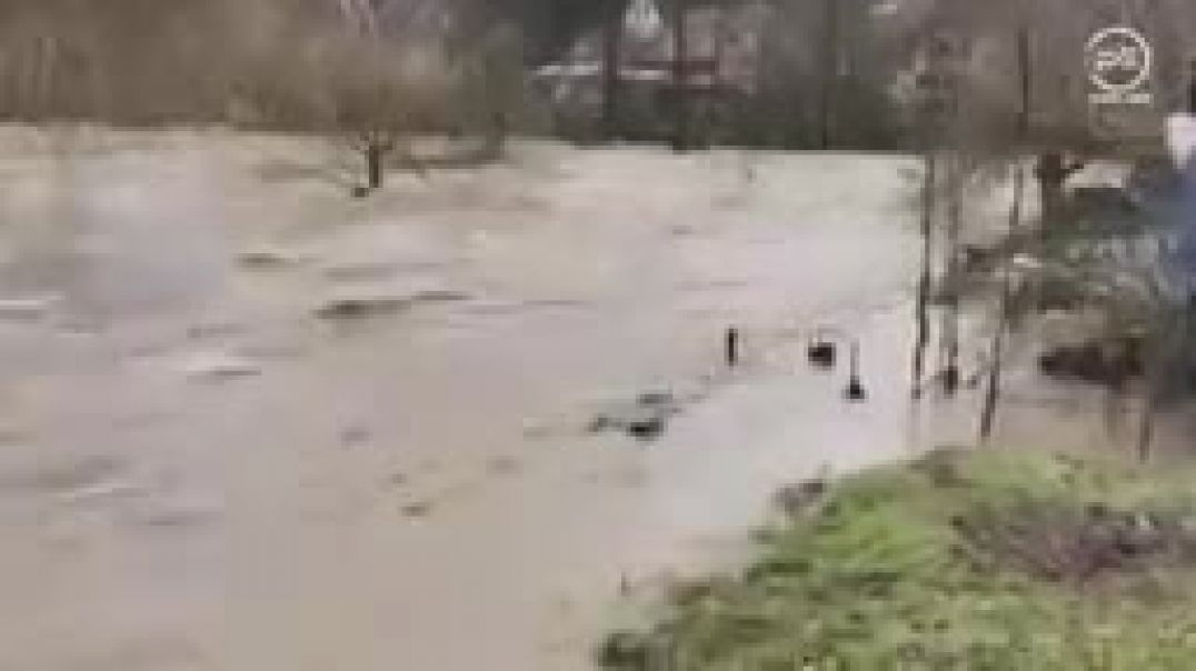A terrible flood in Germany! Several cities are flooded, Büdingen, Hessen_144p