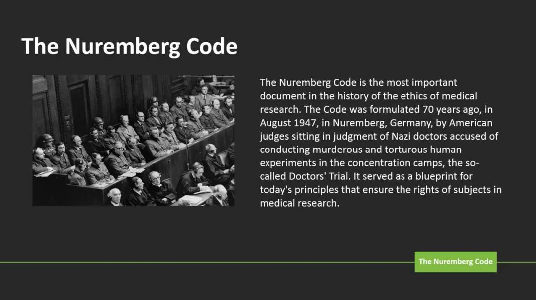 Nuremberg Code Explained
