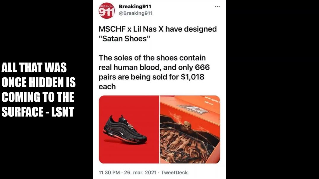 SATANS FOOTWEAR! MSCHF!  Lil Nas X Create the Air Max 97 The Masonic Takeover