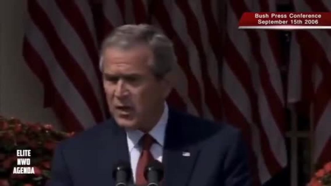 Bush admits explosives were used  at world trade center