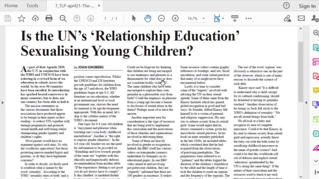 The Light Ep 9 April 21 Is the UN's Relationship Education sexualising young children