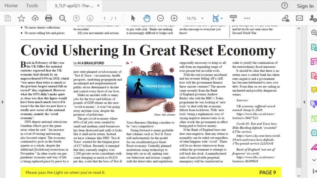 The Light Ep 14 April 21 Covid Ushering in Great Reset Economy