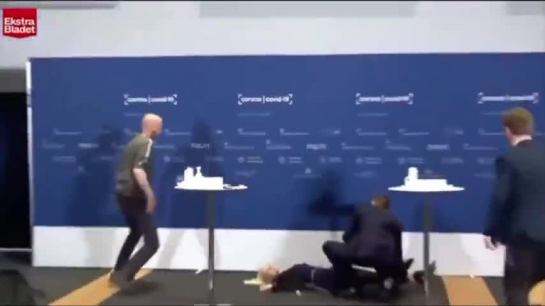 Denmark Gov Official Collapses During Vaccine Press Conference