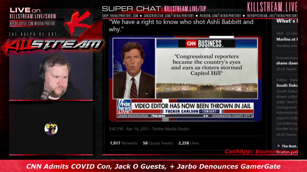 Killstream #823: CNN's COVID Con, Jack O Guests, + Jarbo Blames GamerGate For Q