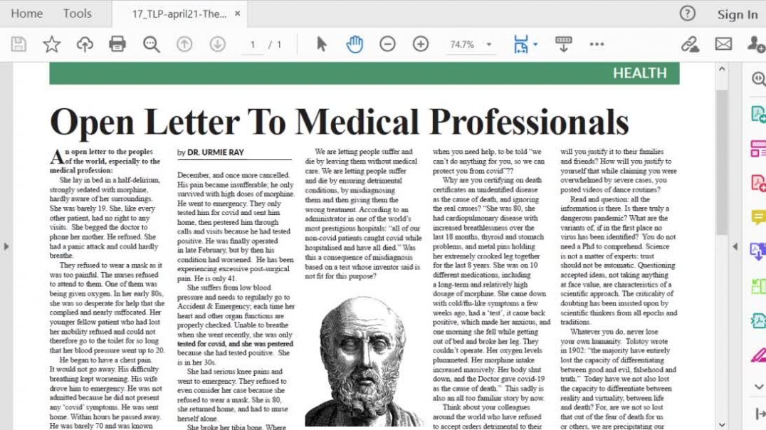 The Light Ep 21 April 21 Open letter to Medical Professionals