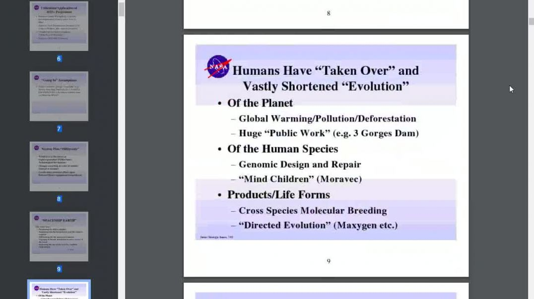 Future Weapons NASA document. NWO warning.