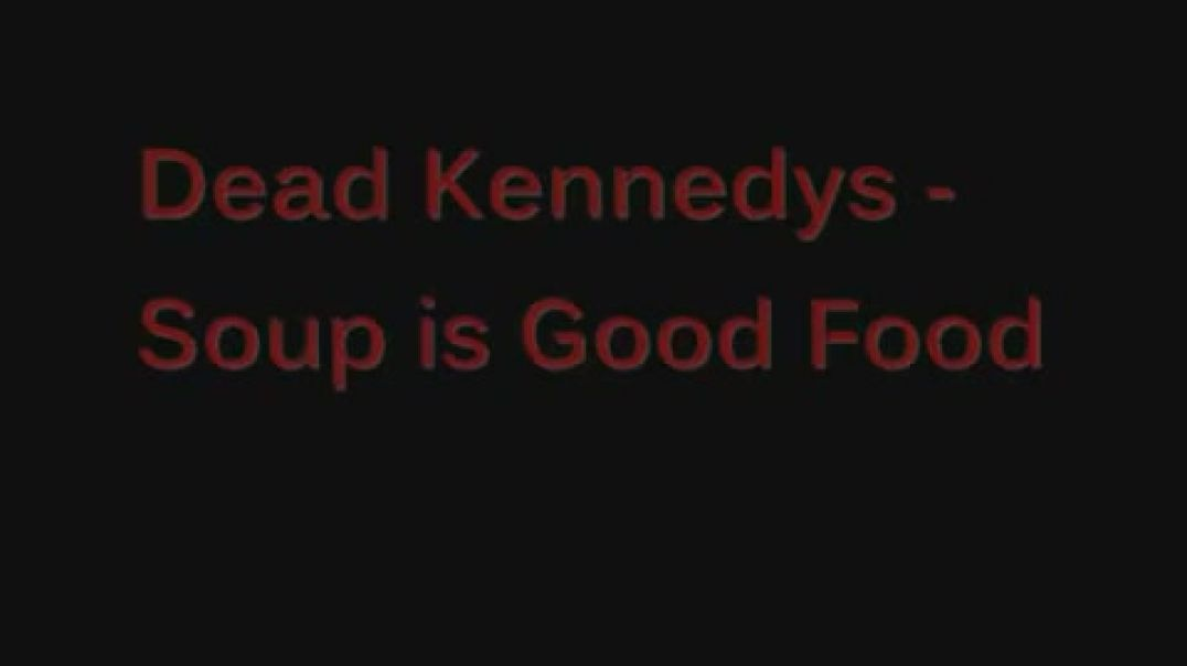 Soup is Good Food- Dead Kennedys.... (with lyrics)