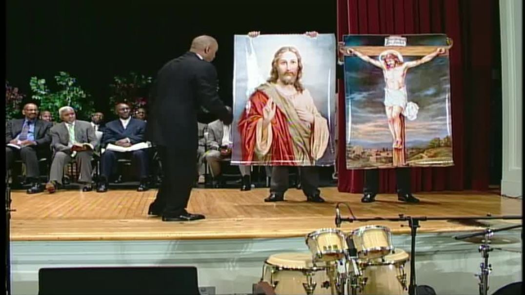 Pastor Gino Jennings Truth of God Broadcast pictures of Jesus are blasphemy.