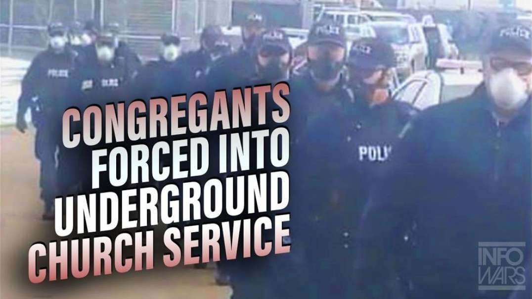 Congregants Forced Into Underground Church Service Hidden From Police