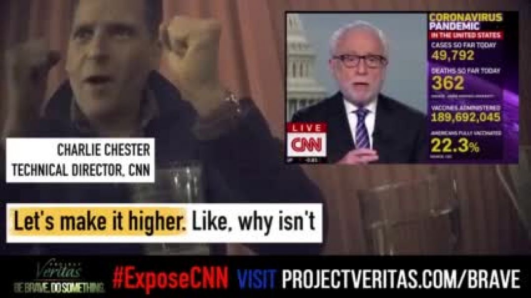 CNN worker caught by Undercove agents admitting to COVID FEAR MONGERING just for ratings