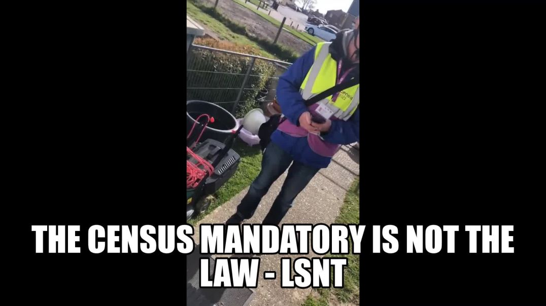 THE CENSUS MANDATORY Is NOT LAW When The Cenus People Come Knocking Standing Under Oath