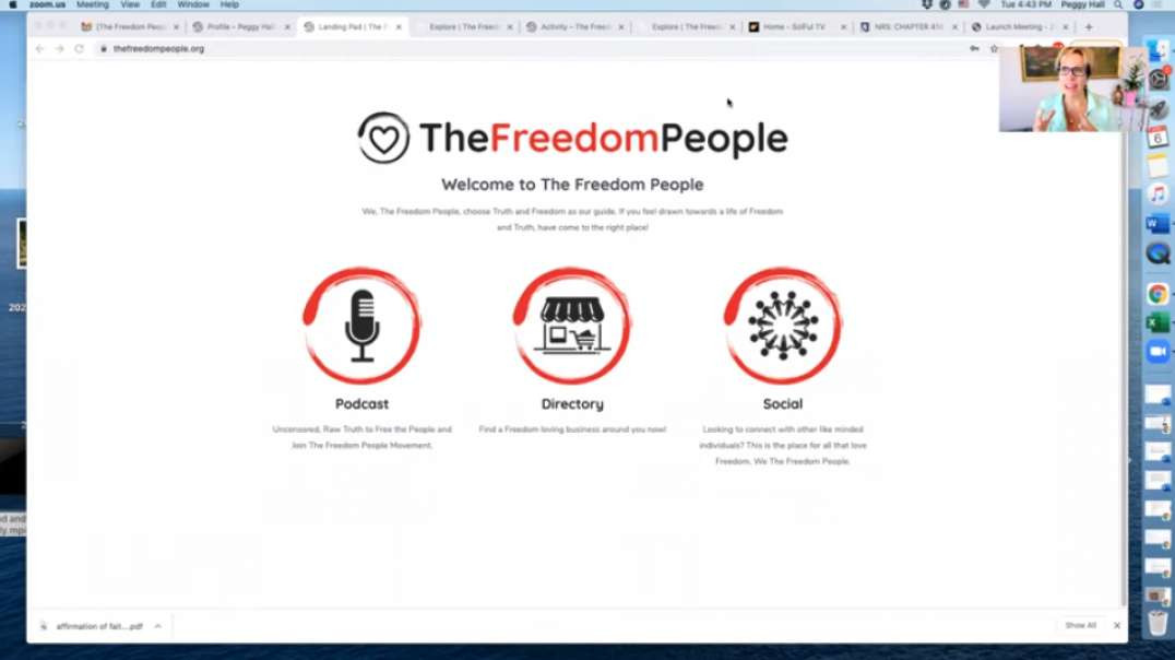 THE FREEDOM PEOPLE. ORG with Peggy Hall