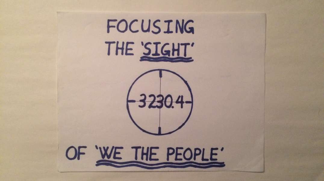 THE VIEW FROM THE CROSS #9 FOCUSING THE 'SIGHT' OF 'WE THE PEOPLE'