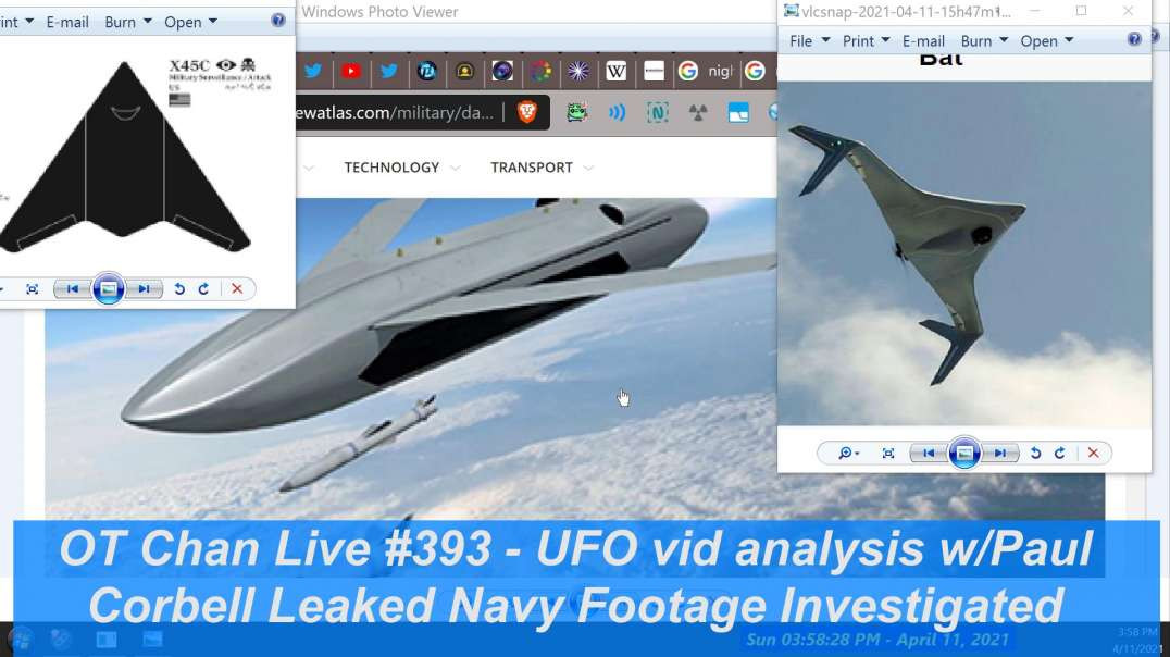 Part 2-Corbell Leaks Navy footage of Pyramid UAPs - Breakdown by Paul ] - OT Chan Live-393-Pt2